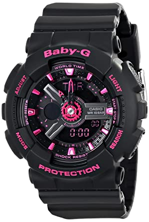 Amazon.com  Casio Women s BA-111-1ACR Baby-G Analog-Digital Display ... 3557f9dc588a