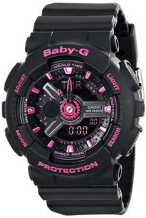 f105e705f Amazon.com: Casio Women's BA-111-1ACR Baby-G Analog-Digital Display ...