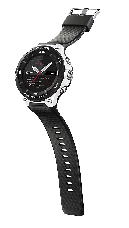 Color Black Casio Mens PRO TREK Quartz Resin Outdoor Smartwatch Model: WSD-F20-WECAU