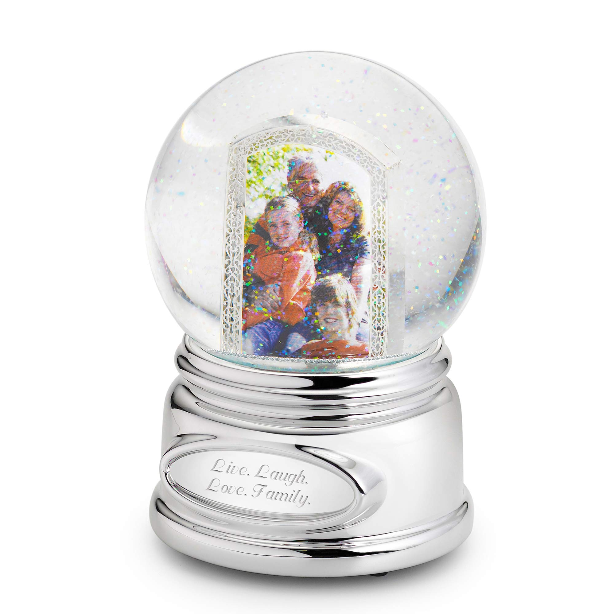 Things Remembered Personalized Picture Perfect Musical Photo Snow Globe with Engraving Included by Things Remembered