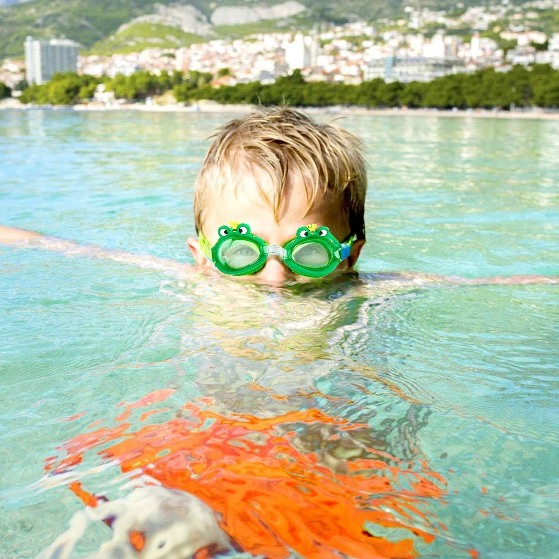 2pcs Antiniebla Gafas para Nadar Antigoteo Protecci/ón UV sin Fugas incluir Enchufe de o/ído y Clip de Nariz Ajustable para Ni/ñas WolinTek Gafas de Nataci/ón Infantil Ni/ños
