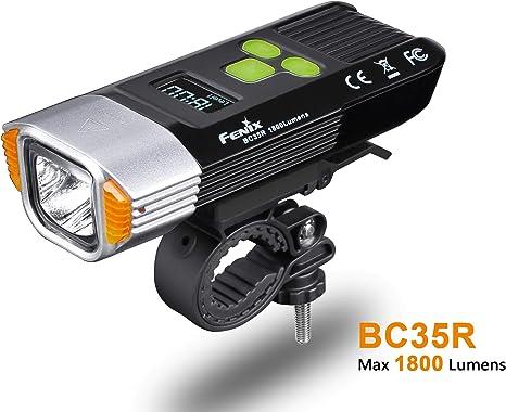FENIX BC35R 1800 lúmenes LED luz Delantera para Bicicleta, Unisex ...
