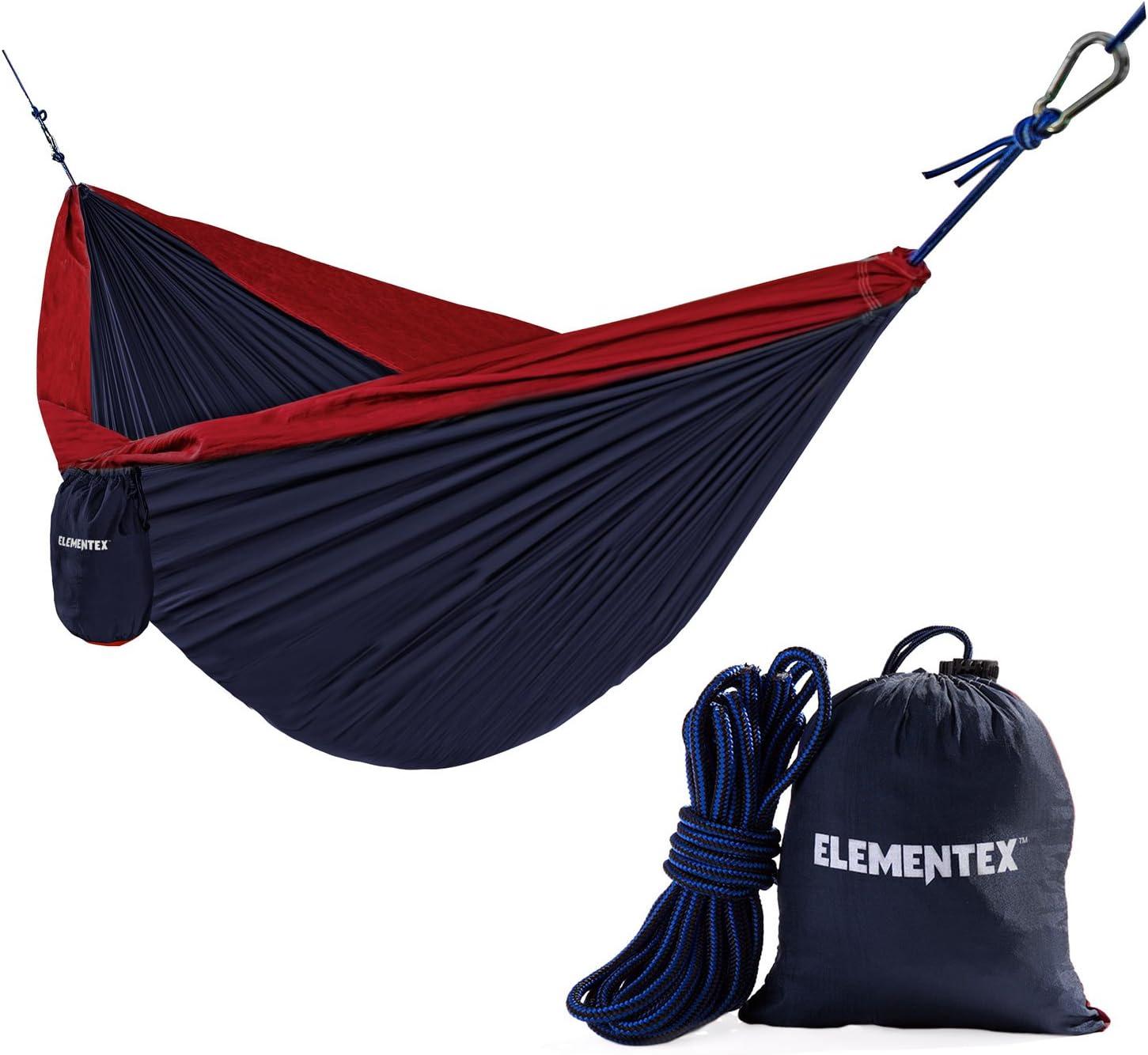 ELEMENTEX Portable Parachute Nylon Travel Camping Hammock