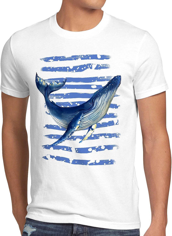 style3 Ballena Azul Camiseta para Hombre T-Shirt Buceo el mar rorcual: Amazon.es: Ropa y accesorios