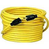 Coleman Cable 09208 NEMA L5-20P to L5-20R 12/3 SJTW 300-Volt Extension Cord, 50-Foot, Yellow