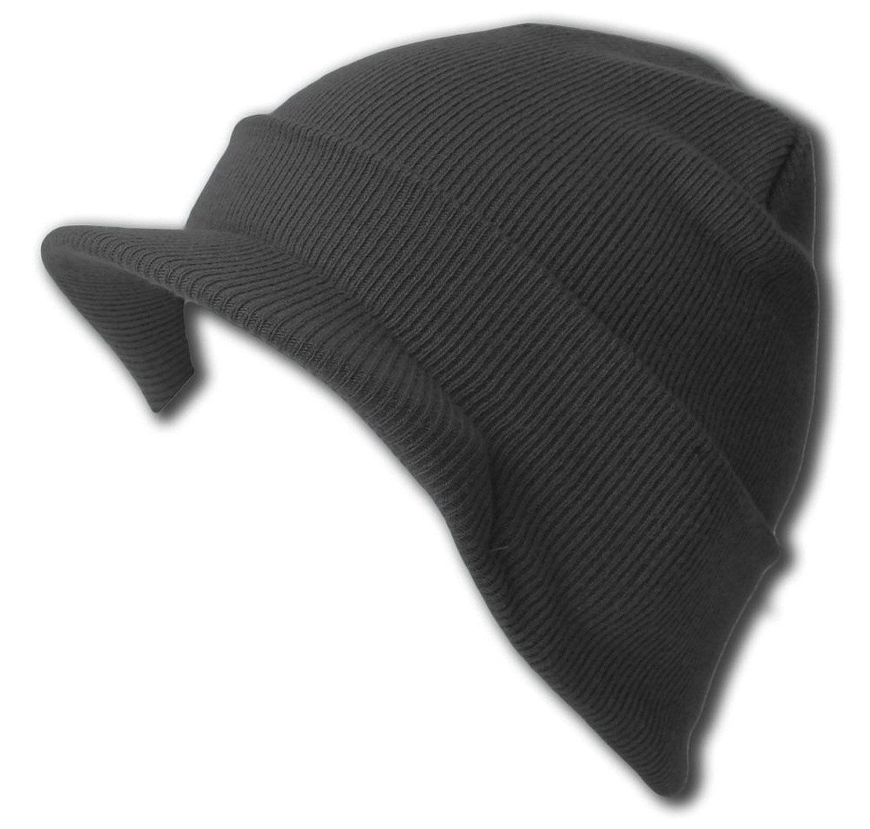 f6a755c8495 New Charcoal Cuff Beanie Visor Jeep Cap at Amazon Women s Clothing store   Skull Caps