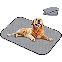 """Washable Pee Pads for Dogs, 39.3"""" x 26.7"""" 4 Layers Design with Anti-Skid Bottom Wee Wee Pads/Training Reusable Kennel…"""