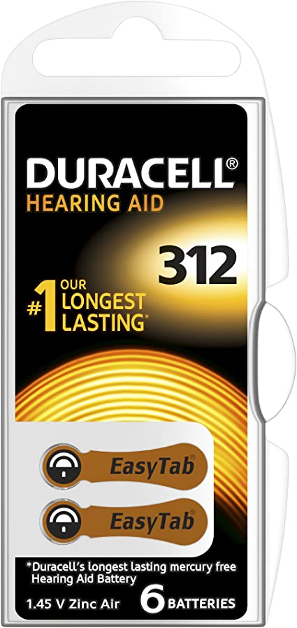Duracell 312 Easy Tab Hoergeraetebatterie 6 Stück Elektronik