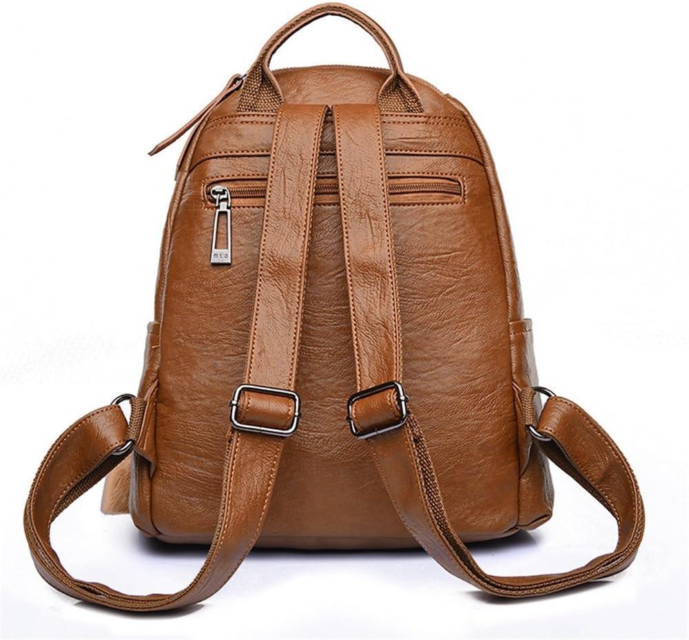 Color : Black, Size : 261428cm KJVHJN Travel Womens Backpack Hairball Tassel Zipper PU Daypack Waterproof Casual Outdoor Shopping Brown College School Bag