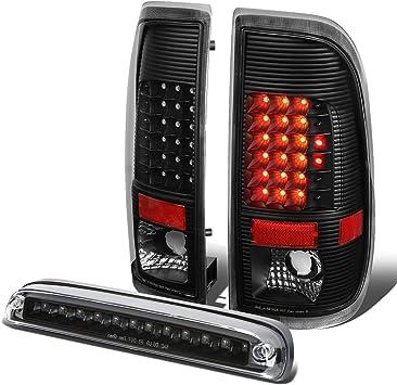 FIT 99-07 FORD SUPER DUTY PAIR FULL LED TAIL LIGHT+THIRD BRAKE LAMP CHROME//CLEAR