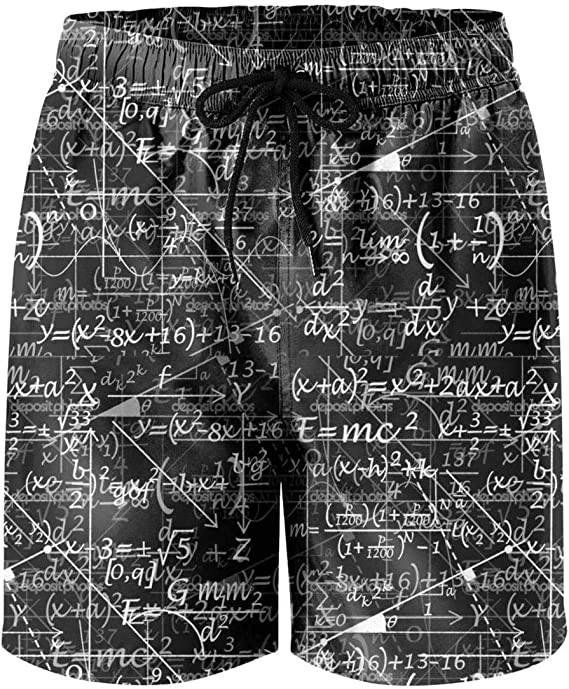 XIdan-die Mens Over-the-Calf Tube Socks Nerd Geek Math Equations Moisture Wicking Casual Socks