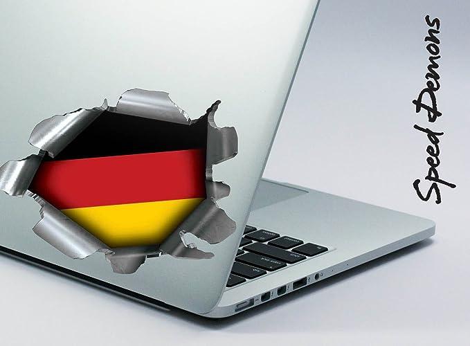 dise/ño de German Germany Deutschland Bandera Nacional BITS4REASONS Pegatina de Tiro de Tira de borrar para Cualquier Superficie Incluye l/áminas y Coches