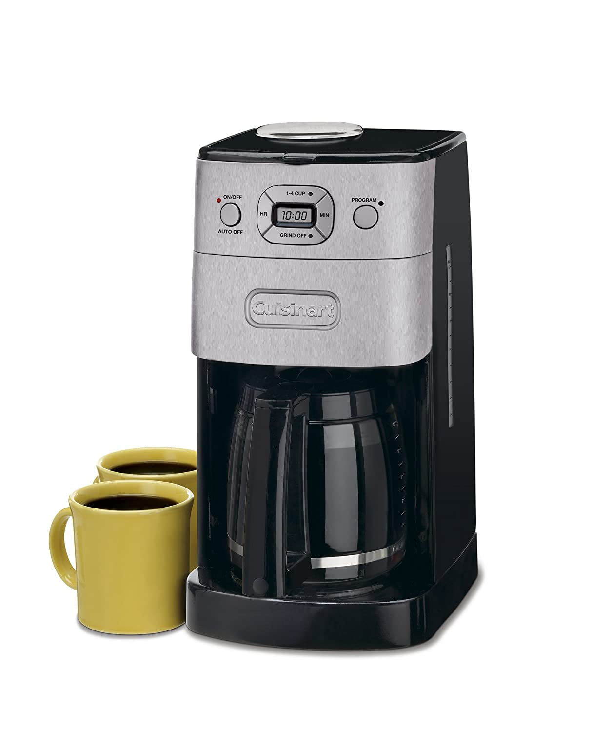 Cuisinart DGB-625BC Grind-and-Brew 12-Cup Automatic Coffeemaker, Brushed Metal