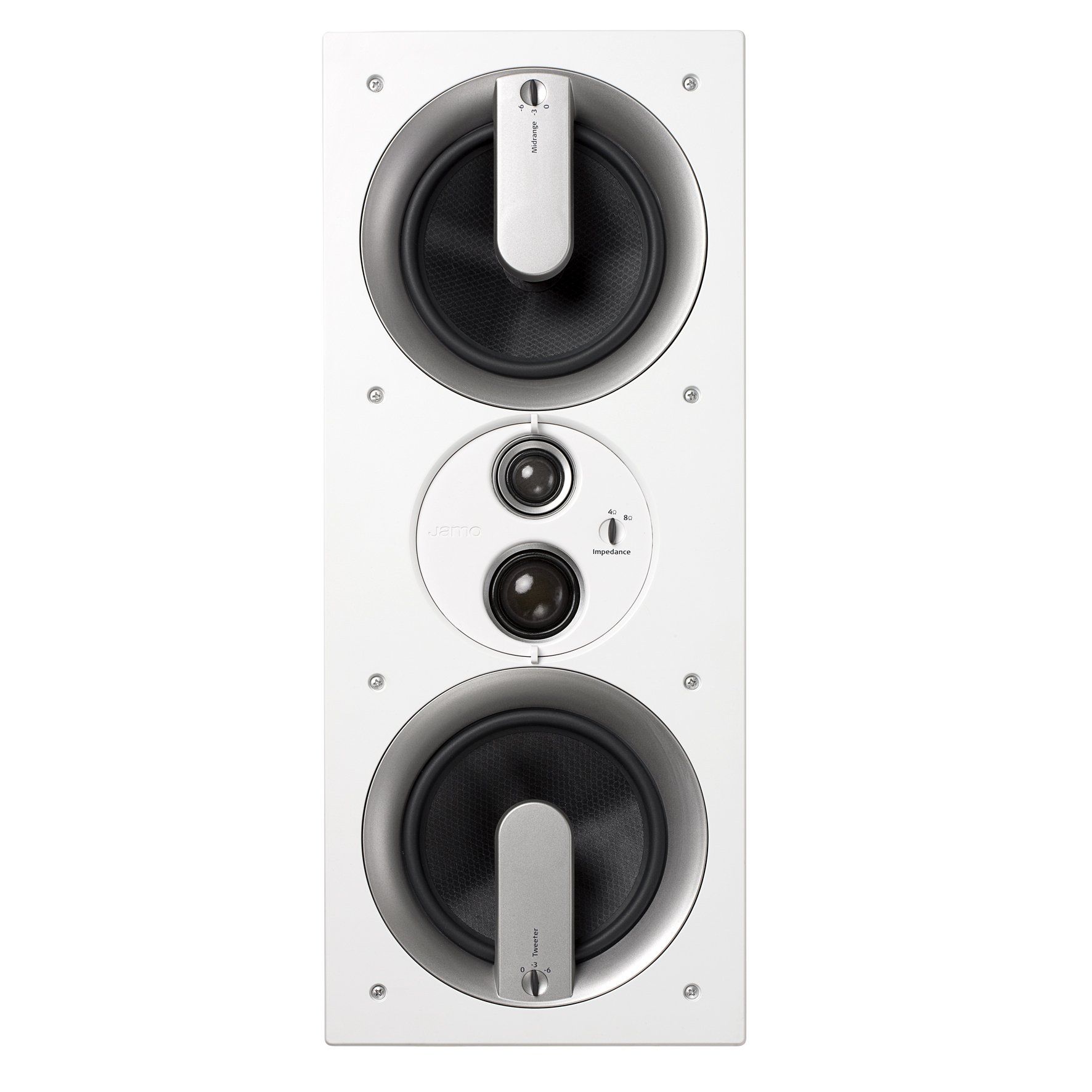 Jamo 80W 3-Way In-Wall Speaker, White Paintable by Jamo