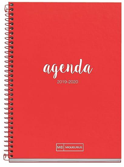 Miquelrius Agenda Escolar 19/20 Semana Vista Lettering Rojo Castellano 150x213 mm