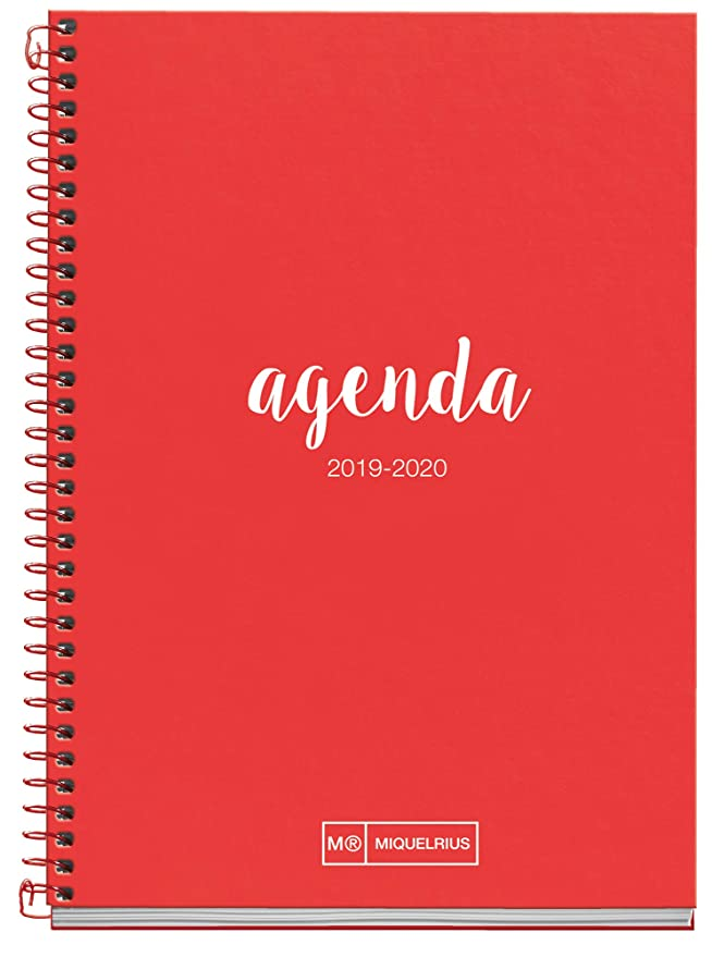 Miquelrius Agenda Escolar 2019 2020 Semana Vista Lettering Turquesa Euskera 117x174 mm