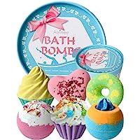 Aofmee 6st Badbommen Geschenken Set, Bomb Cosmetics Cadeauset, Bubble handgemaakte Badballen Vrouwen Gift Set…