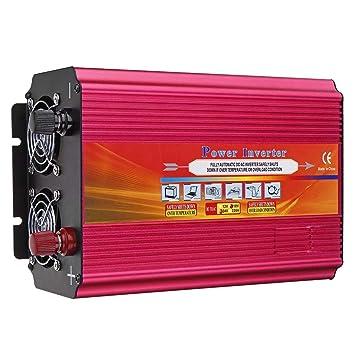 Rtyrytiiu Inversor 6000W CC 12V / 24V a AC 110V / 220V Power ...