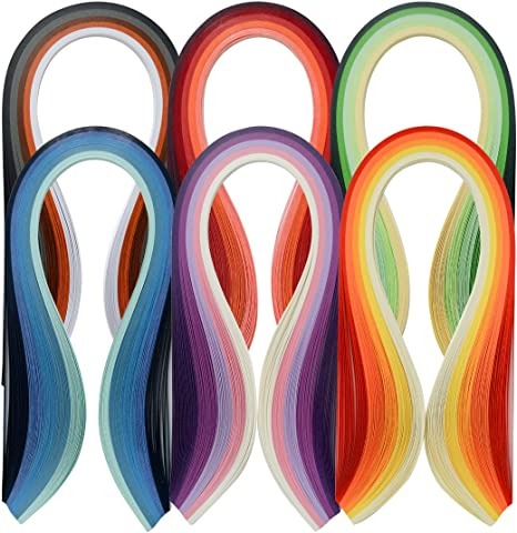 Paper Quilling Strips Set,36 Colors 900 Strips Width 3mm Length 39cm
