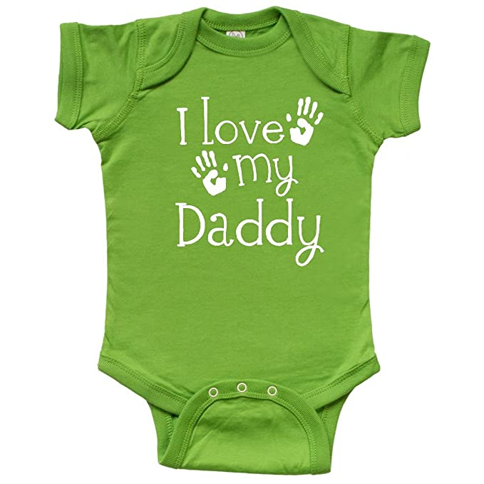 9e37d2ad inktastic - I Love My Daddy Fathers Day Infant Creeper Newborn Apple Green  2d45d