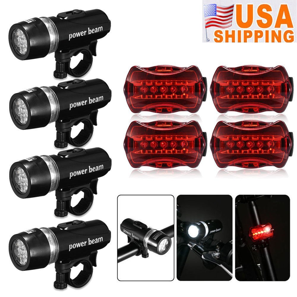 Rear Safety Flashlight Waterproof 5 LED Lamp Bike Bicycle Front Head Light