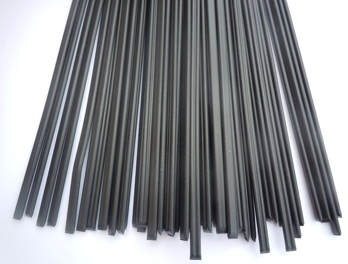 Black colour PE double welding rods for pipe/machine spare parts rods 20pcs/lot 1pc=1meter by SUYWT