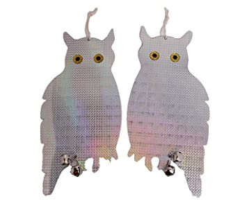Bird Scared Reflective Hanging Owl Deterrent Reflective Owl Keeps All Birds  Away From Your Property U2013