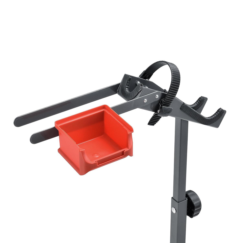 Haus] Soporte de Bicicleta para reparación - Gris Rojo - Marco de Metal - Estable - 72 x 27 x 8cm: Amazon.es: Hogar