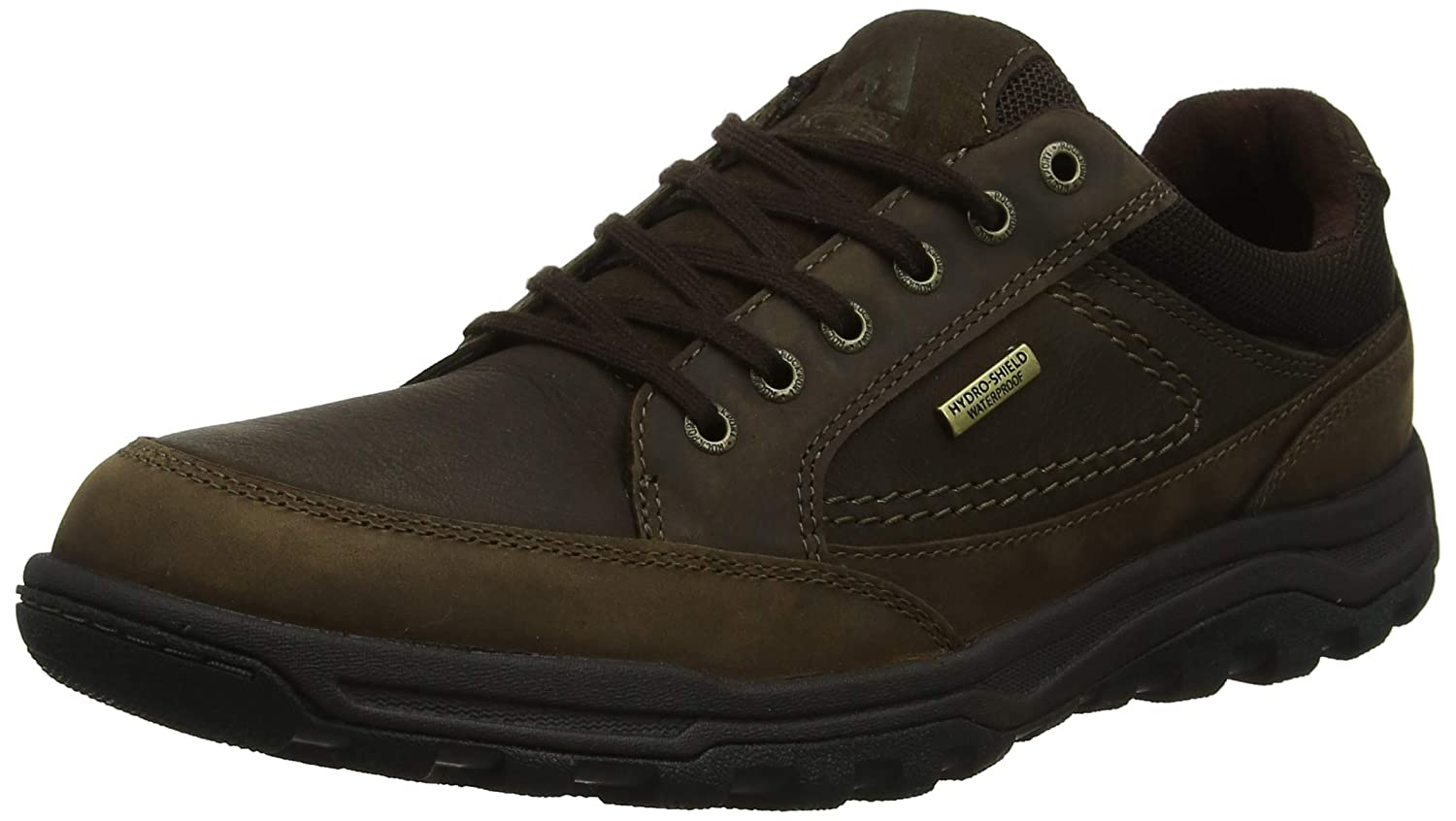 TALLA 43 EU. Rockport TT WP Oxford Dk Brown, Zapatos de Cordones Derby para Hombre