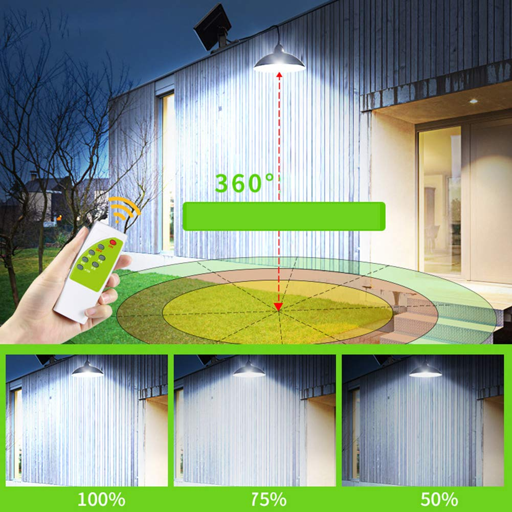 Timing Adjust Bright for Window Wireless Wall Hanging RC Lamp with Solar Panel 18 Hours Solar Light Outdoor 12LED Chandelier Garden Roof