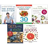 Stress solution, whole food healthier lifestyle diet, healthy medic food, tasty and healthy, hidden healing powers 5 books collection set