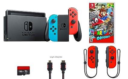 Amazon Com Nintendo Switch 5 Items Bundle Nintendo Switch 32gb