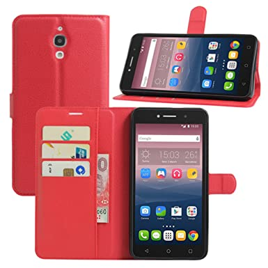 various colors cc3b4 ace43 HualuBro Alcatel Pixi 4 6 Inch Cases, Premium PU Leather Wallet Flip Phone  Protective Case Cover with Card Slots for Alcatel One Touch Pixi 4 6.0 Inch  ...