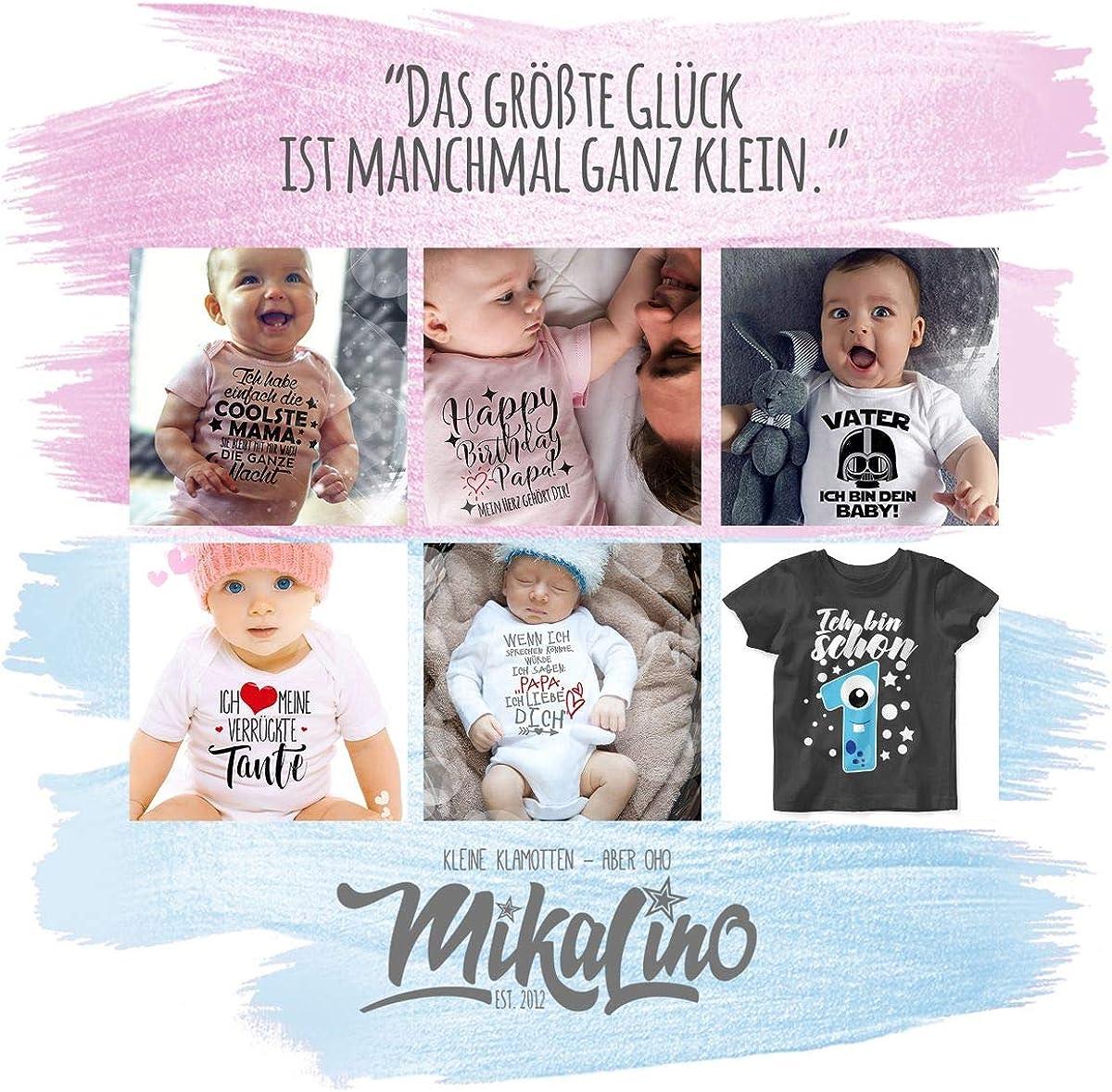 Kurzarm Baby-Shirt f/ür Jungen und M/ädchen Vatertagsgeschenk Tochter /& Sohn Baby rosa Unser erster Vatertag im Herz Shirtracer