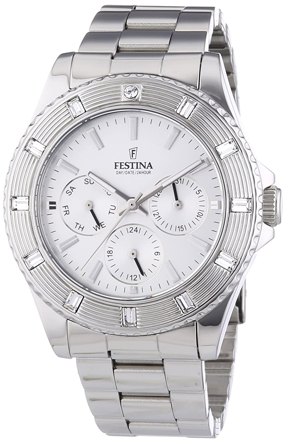Amazon.com: Ladys watch - Festina - Day/Date/Hour - Stainless Steel Band - F16697/1: Watches