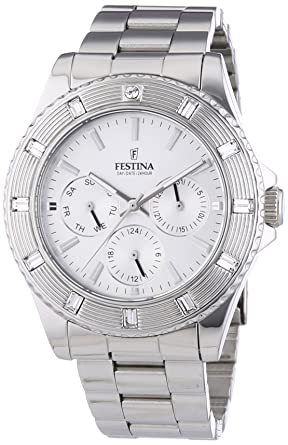 Ladys watch - Festina - Day/Date/Hour - Stainless Steel Band - F16697