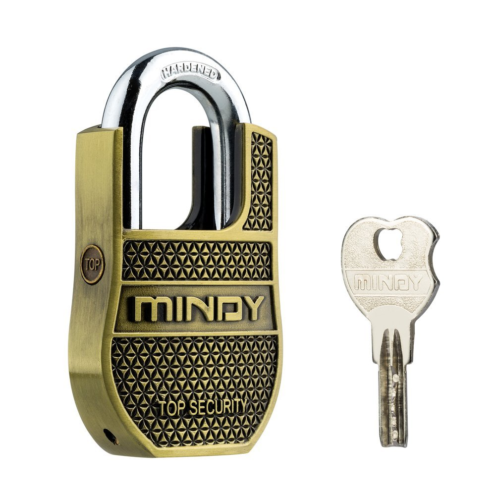 Mindy Heavy Duty Padlock with Keys Unique Style Special Chains Lock,1-Pack High Security Padlock, AF8-50