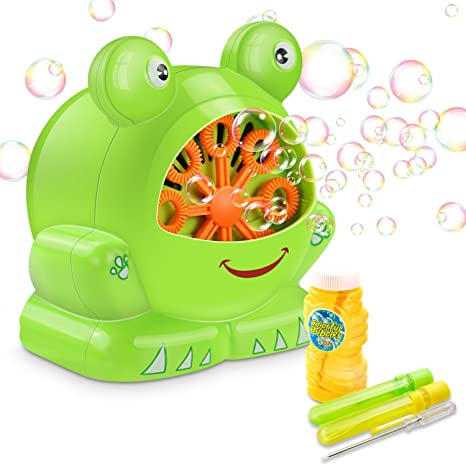 Máquina de Burbujas, Maquina Pompas de Jabon Forma de Rana, Haga más de 500