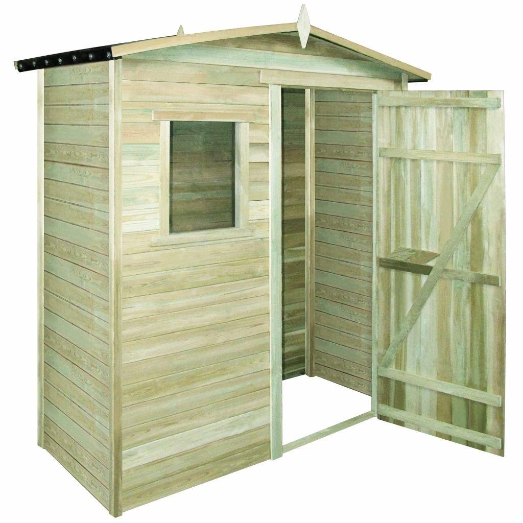 Vislone Abri de Stockage en Bois Pin Imprégné de Durable pour Jardin 200 x 100 x 210 cm
