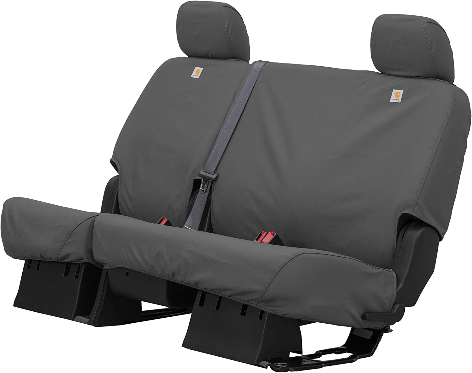 SSC8429CABN Fits Select Chevrolet Silverado//GMC Sierra Crew Cab Models Brown Covercraft Carhartt SeatSaver Custom Seat Covers 2nd Row 60//40 Bench Seat