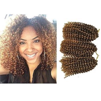 Amazon.com: Marlibob Crochet Braids Hair Extensions 6 packs/lot ...