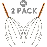 Scalp Massager – Handheld Head Massage Tingler, Scratcher & Stress Reliever Tool Set for Hair Stimulation & Relaxation by Body Back Company (Colors May Vary) (2-Pack)