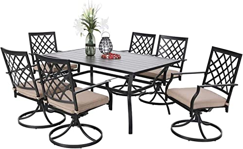 PHI VILLA Patio Dining Set of 7