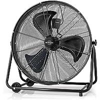 Orbegozo PWT 3075 - Ventilador industrial Power Fan con cabezal inclinable, aspas metálicas de 75 cm, 3 velocidades de ventilación, ruedas de transporte, rejilla de seguridad, 200 W de potencia
