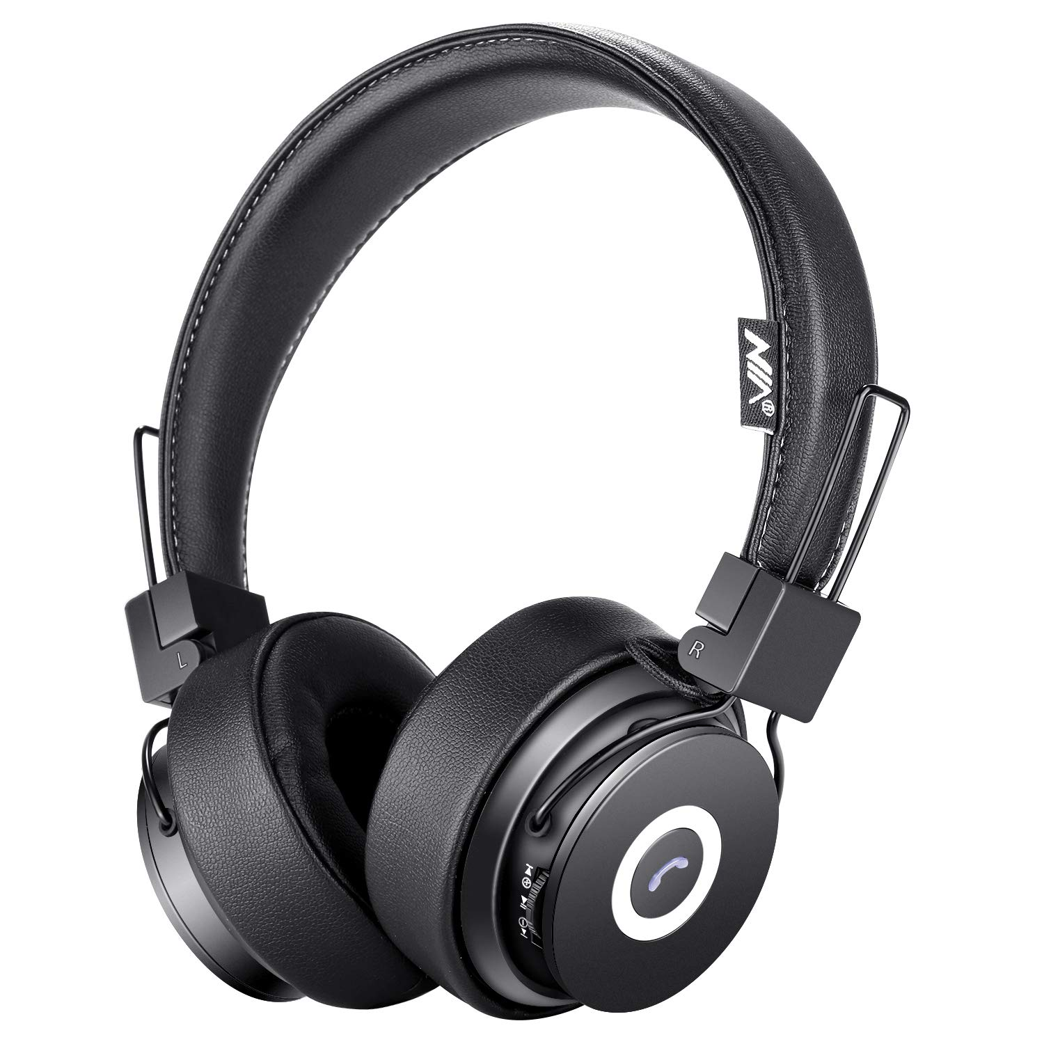 Auriculares Bluetooth on-Ear Hi-Fi Stereo Plegable Over-Ear Headset con Microfono APP to Control Soft Earmuffs Support S