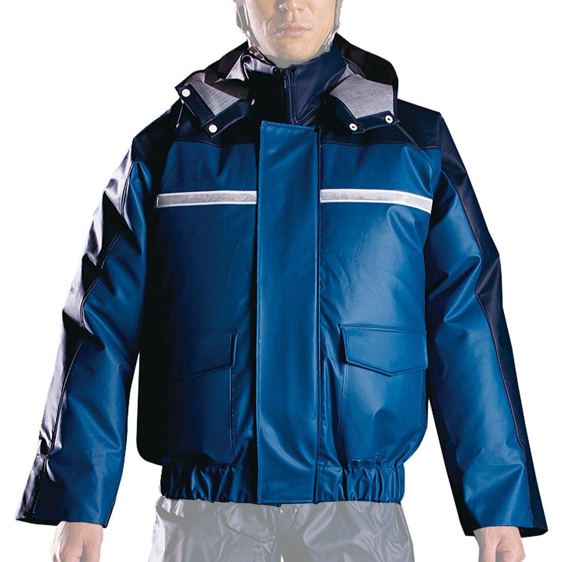ナダレス 空調服 ブルゾン 全4色 全8サイズ レインパーカ ブルー 5L 反射テープ付き 6097 [正規代理店品] B011C025DQ 5L 5L