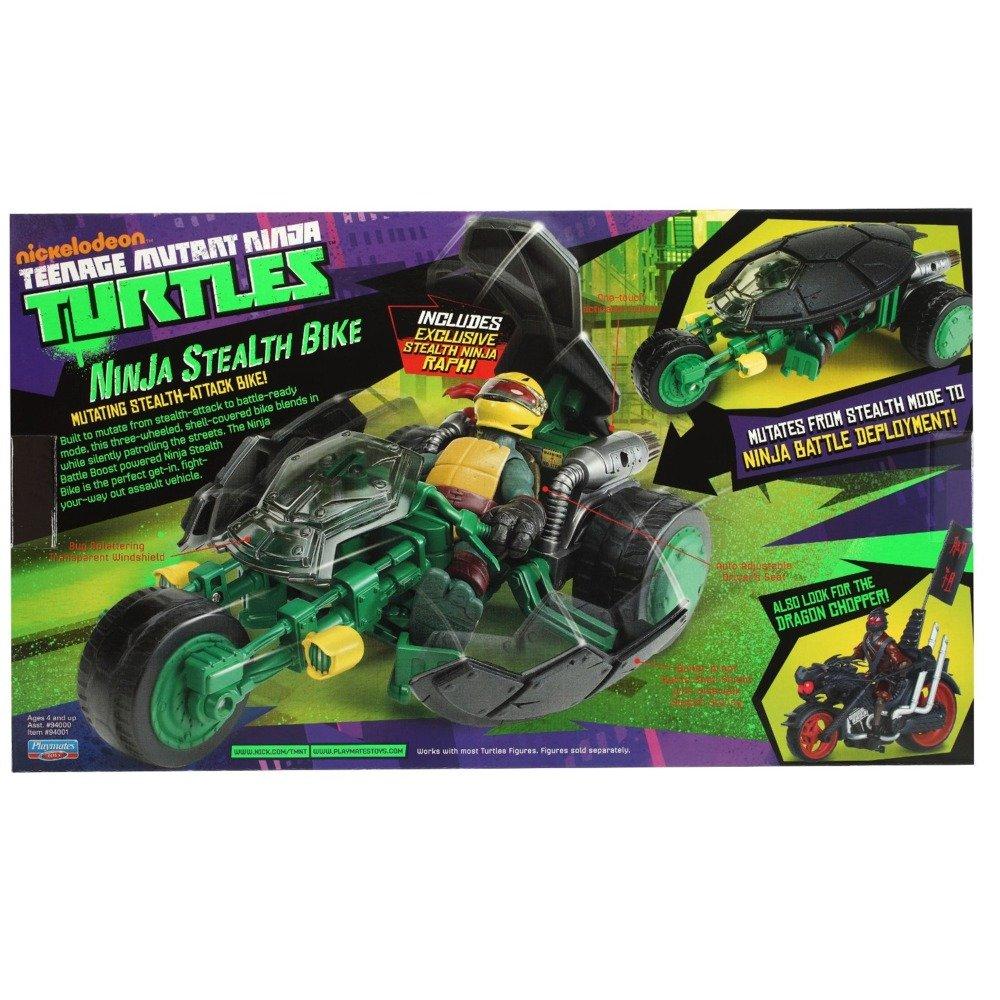 Teenage Mutant Ninja Turtles Ninja - Muñeco de Raphael con Motocicleta Stealth de Juguete