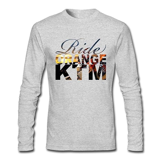 Treask AOPO Mens Long Sleeve Ride Orange KTM Ken Roczen T Shirt