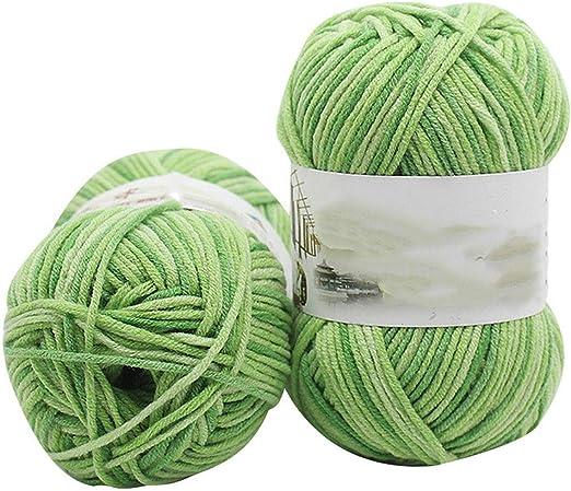 Hilo de lana de algodón para tejer a mano, para niños, para tejer ...