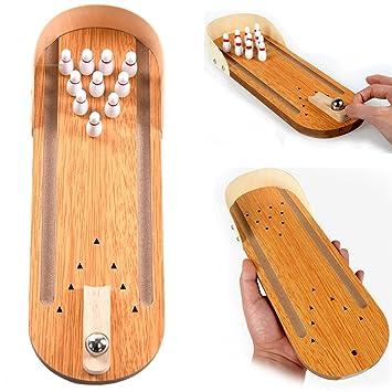 1fe69eca6e7c9 Neuheit Mini-Holz-Tisch Bowling Spiel auf dem Schreibtisch
